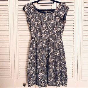 Xhilaration Daisy Print Skater Dress